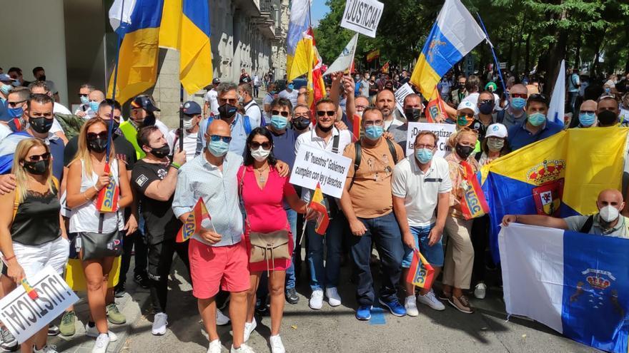 Guardias civiles canarios reclaman en Madrid una mejora de sus derechos y condiciones laborales (18/09/2021)