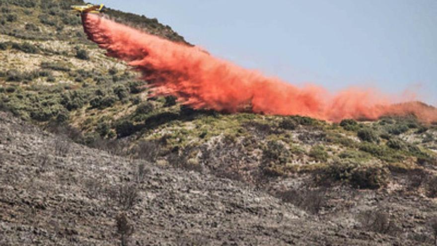 La Guardia Civil investiga si el incendio de la Vall de Gallinera fue intencionado