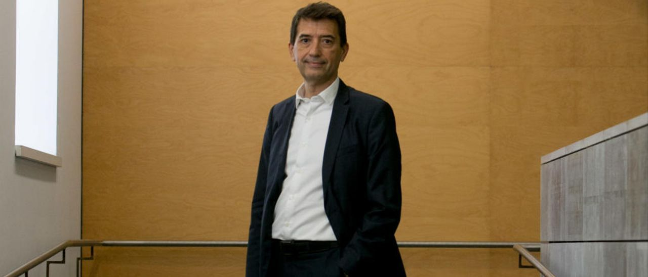 Rafael Doménech, antes de exponer su ponencia en Alicante.