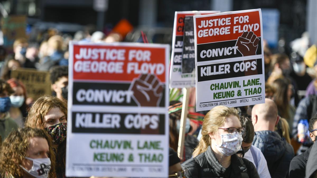 Protestas contra la muerte de George Floyd.