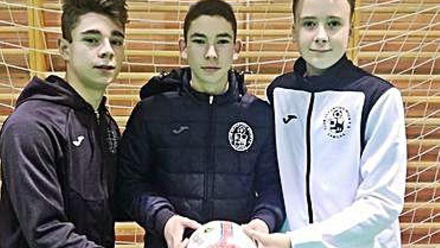 Foto de los tres jugadores del River seleccionados.