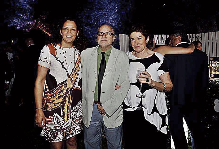 La aun consellera de Hisenda, Catalina Cladera, el director de la radio y televisión autonómica, Andreu Manresa y la periodista Margalida Solivellas.