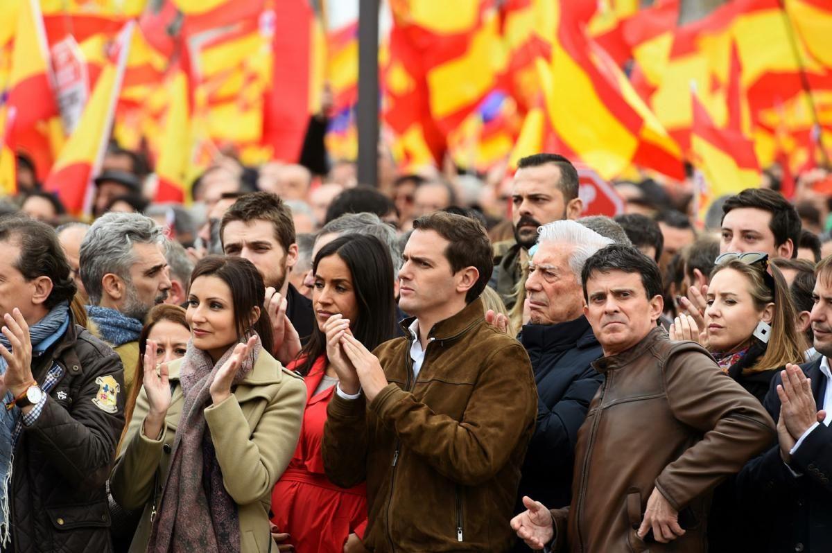 Manifestación en Madrid contra Pedro Sánchez