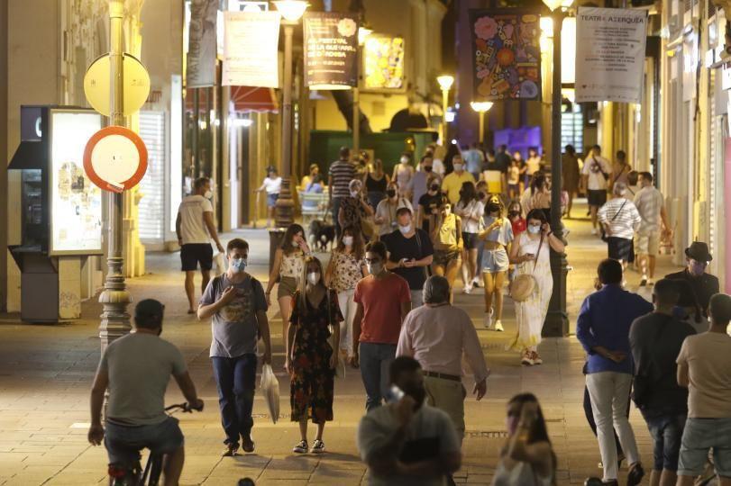 Centro de Córdoba en  'La Noche Más Larga'.