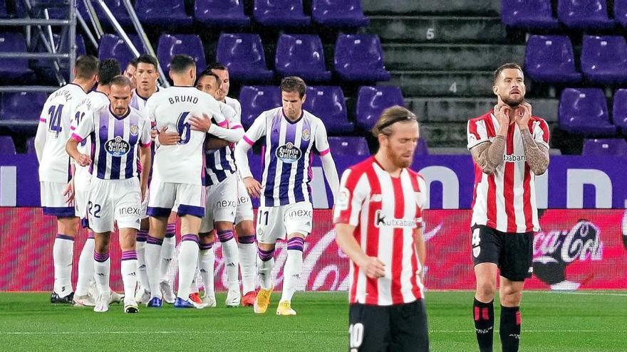 Primer triunfo del Valladolid ante un Athletic en crisis