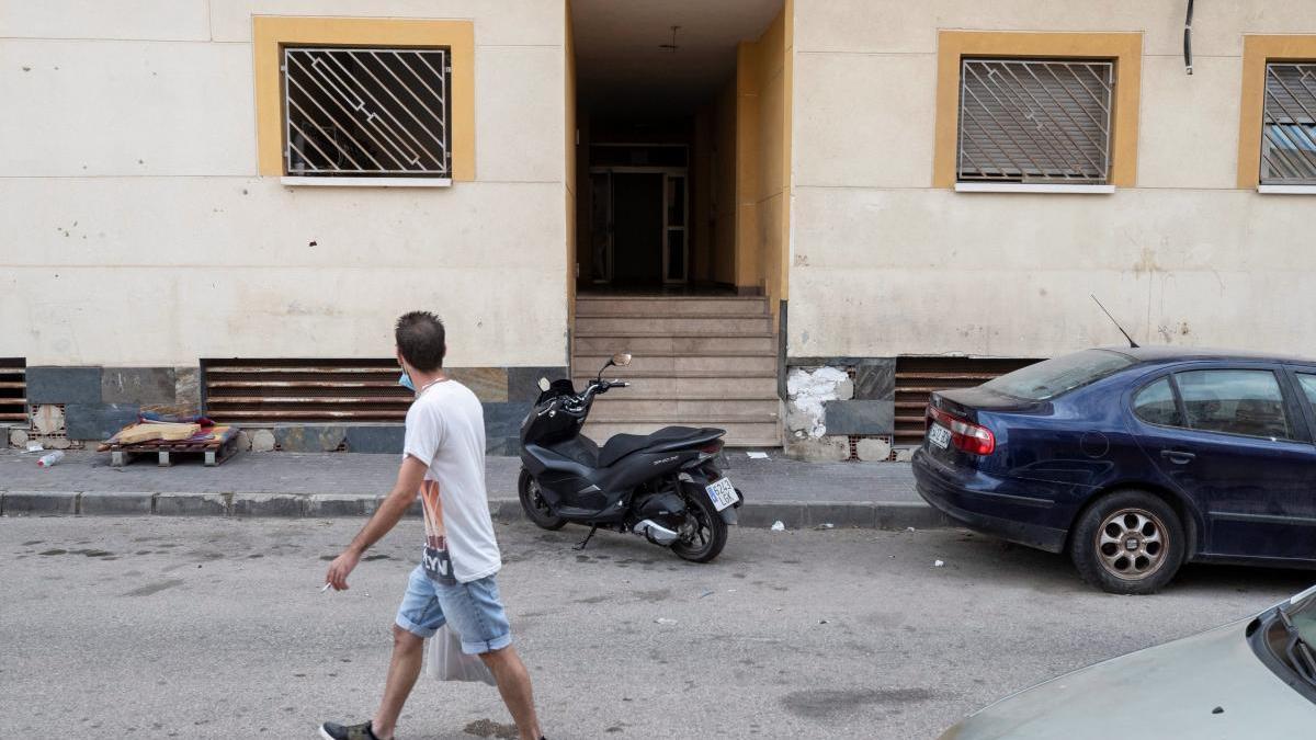 Edificio de la calle Temor José Sánchez Galán de Águilas, donde ocurrieron los hechos.