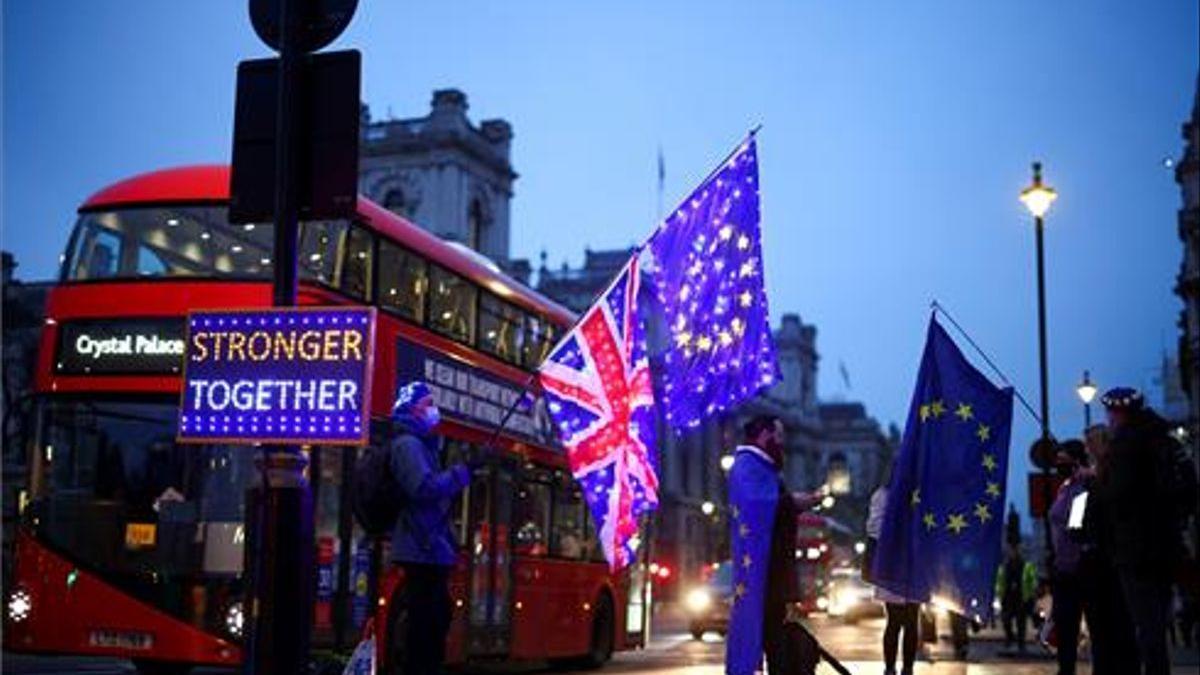 Manifestación contra el brexit en diciembre de 2020.