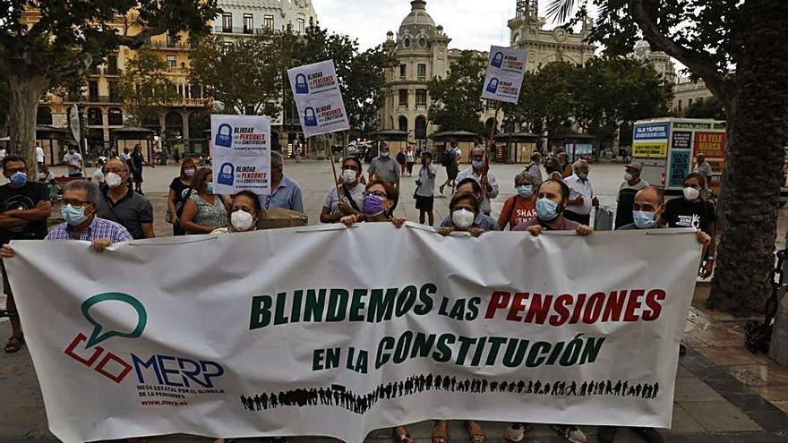 Protesta para blindar las pensiones