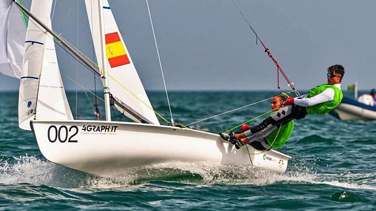 Maria Bover y Fernando Rodríguez, durante la competición disputada en el Golfo di Gaeta. | R.D.
