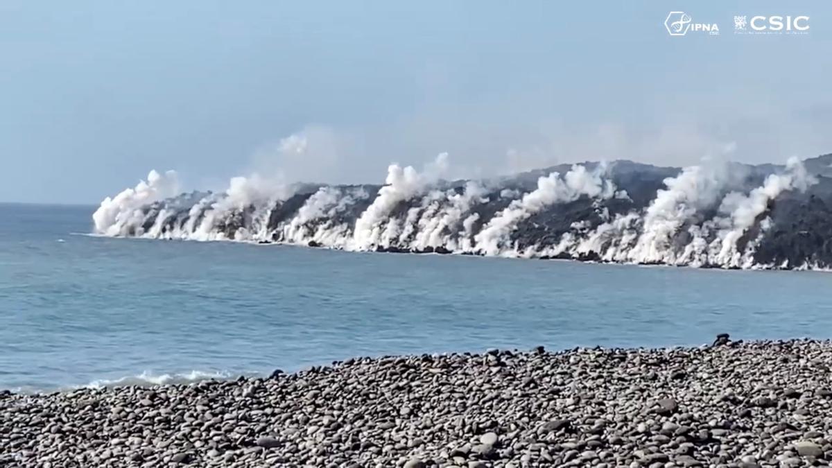 ¿Delta o fajana? ¿Cómo llamamos al terreno ganado al mar por la lava del volcán de La Palma?