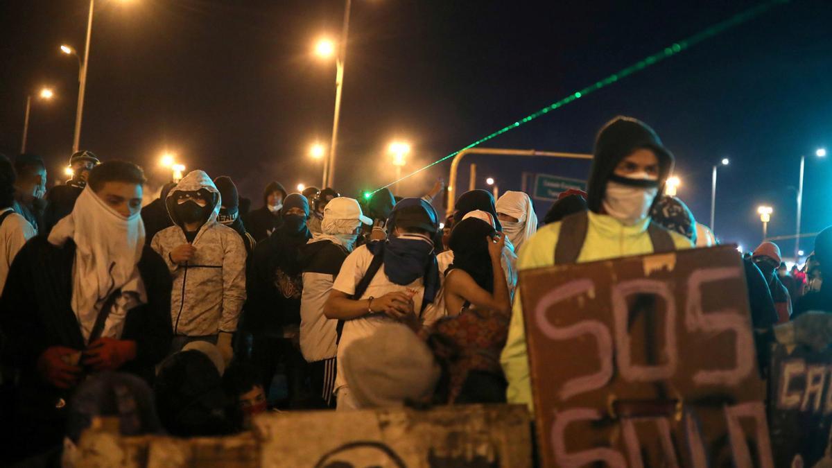 Imagen de las protestas en Colombia