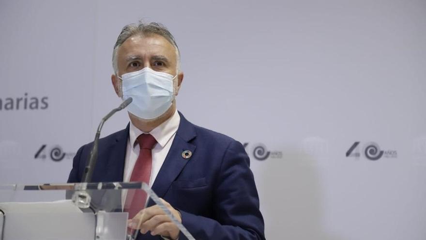 """Torres niega """"un choque"""" con el Estado por los antígenos y pide una excepcionalidad para Canarias"""