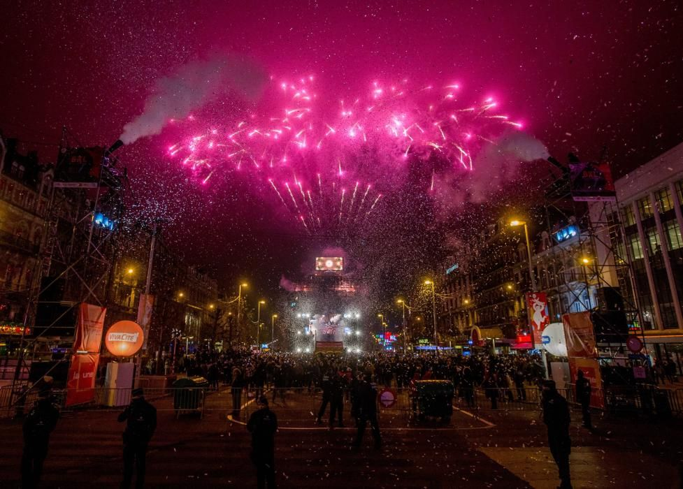 New Year's Eve celebration in Brussels