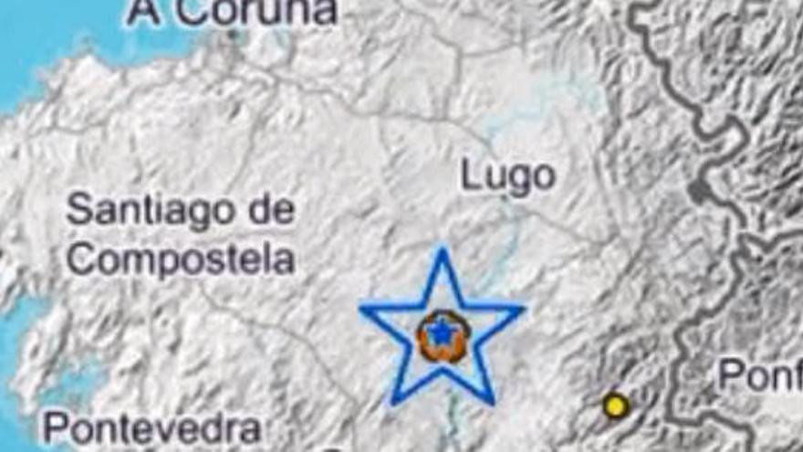 Un terremoto de magnitud 4.1 hace temblar la tierra en media Galicia