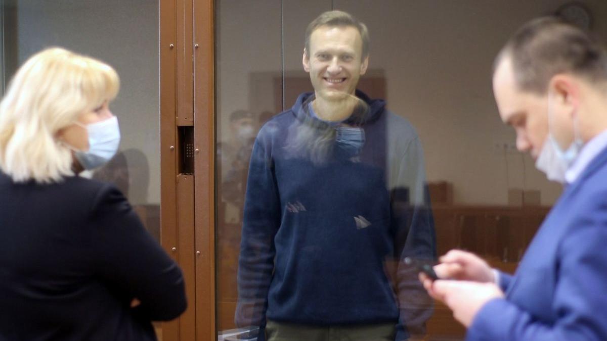 Alekséi Navalni, durante una vista ante un tribunal de Moscú.