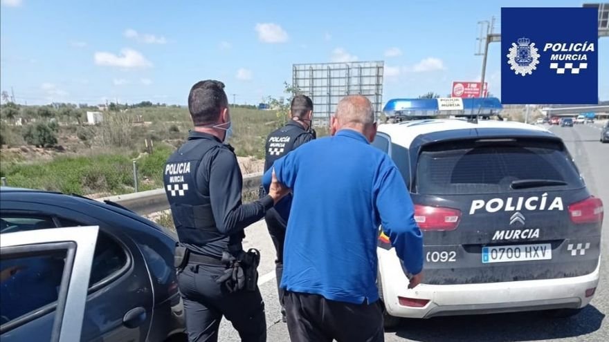 Detenido en Murcia un conductor que septuplicaba la tasa de alcoholemia