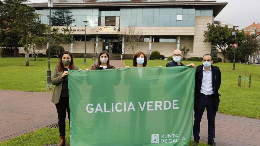 Moaña recibe la Bandeira Verde de la Consellería de Medio Ambiente