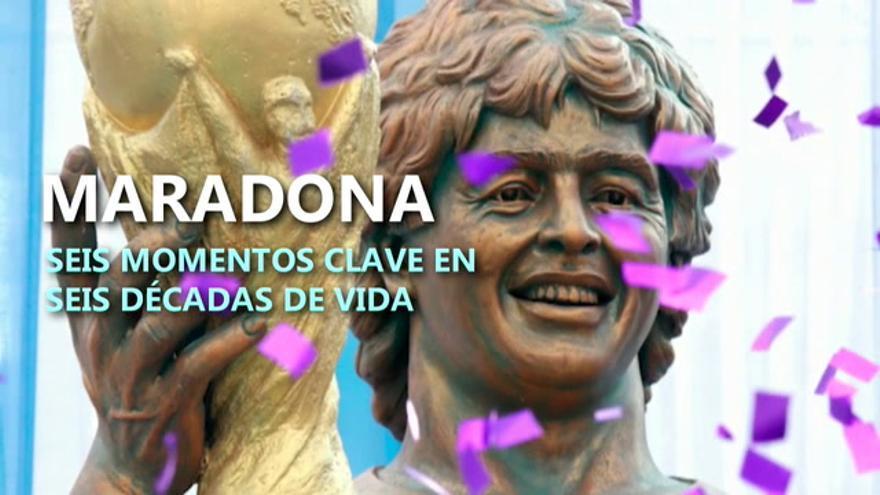 Seis hechos históricos en seis décadas de vida de Diego Maradona