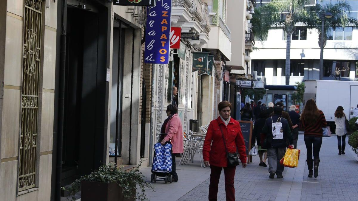 Calle comercial en Torrent.