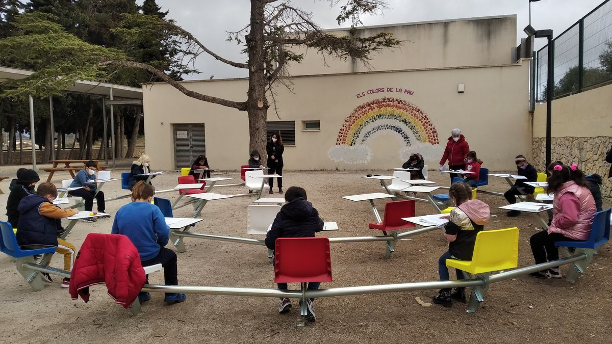 El aula exterior del colegio Manuel Bru de Benissa