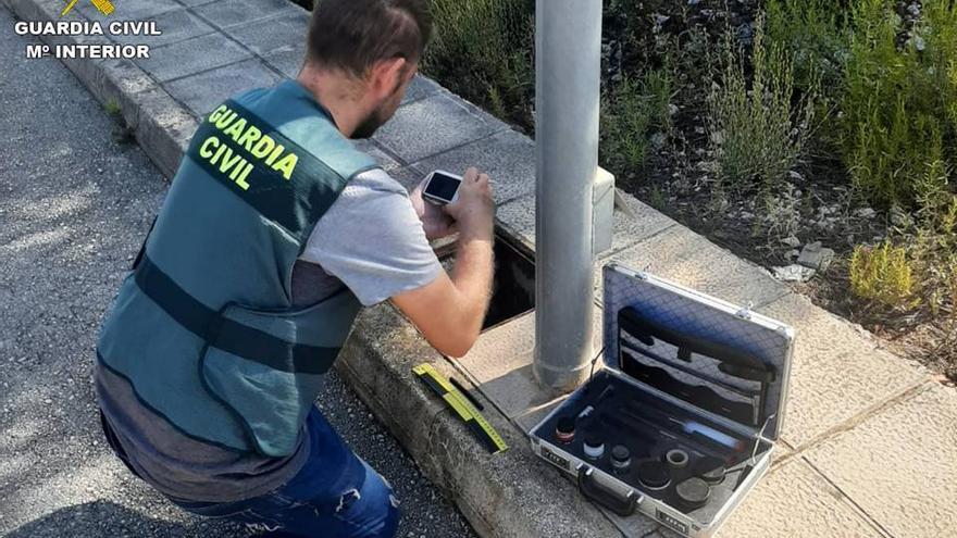 Cae un grupo que robaba cable del alumbrado público en la Marina Alta y Valencia