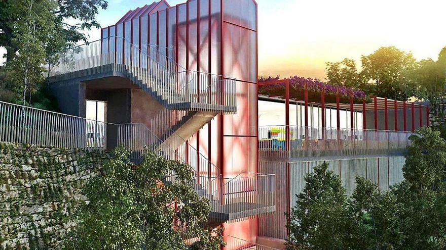 Así será el nuevo ascensor urbano de Vigo entre O Berbés y el Barrio do Cura