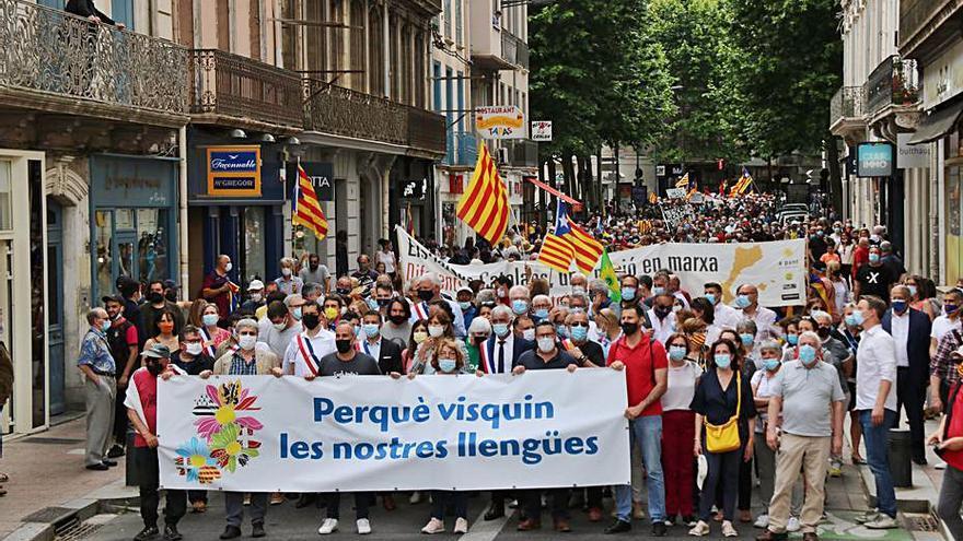 Mobilització a Perpinyà per la protecció del català a França