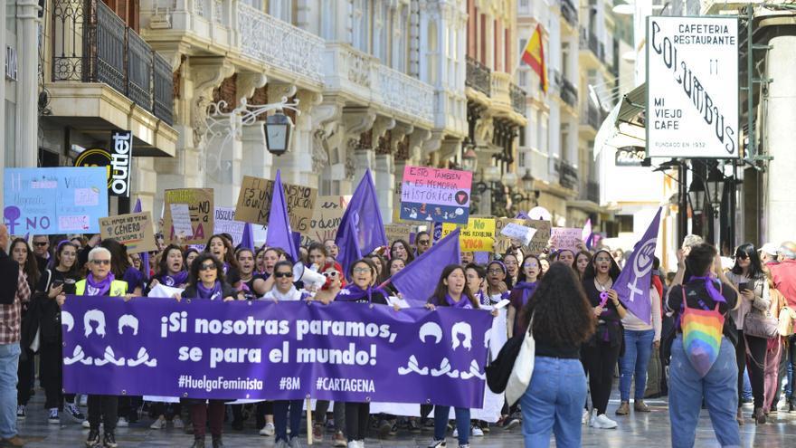 Seis manifestaciones convocadas para el 8M en Murcia