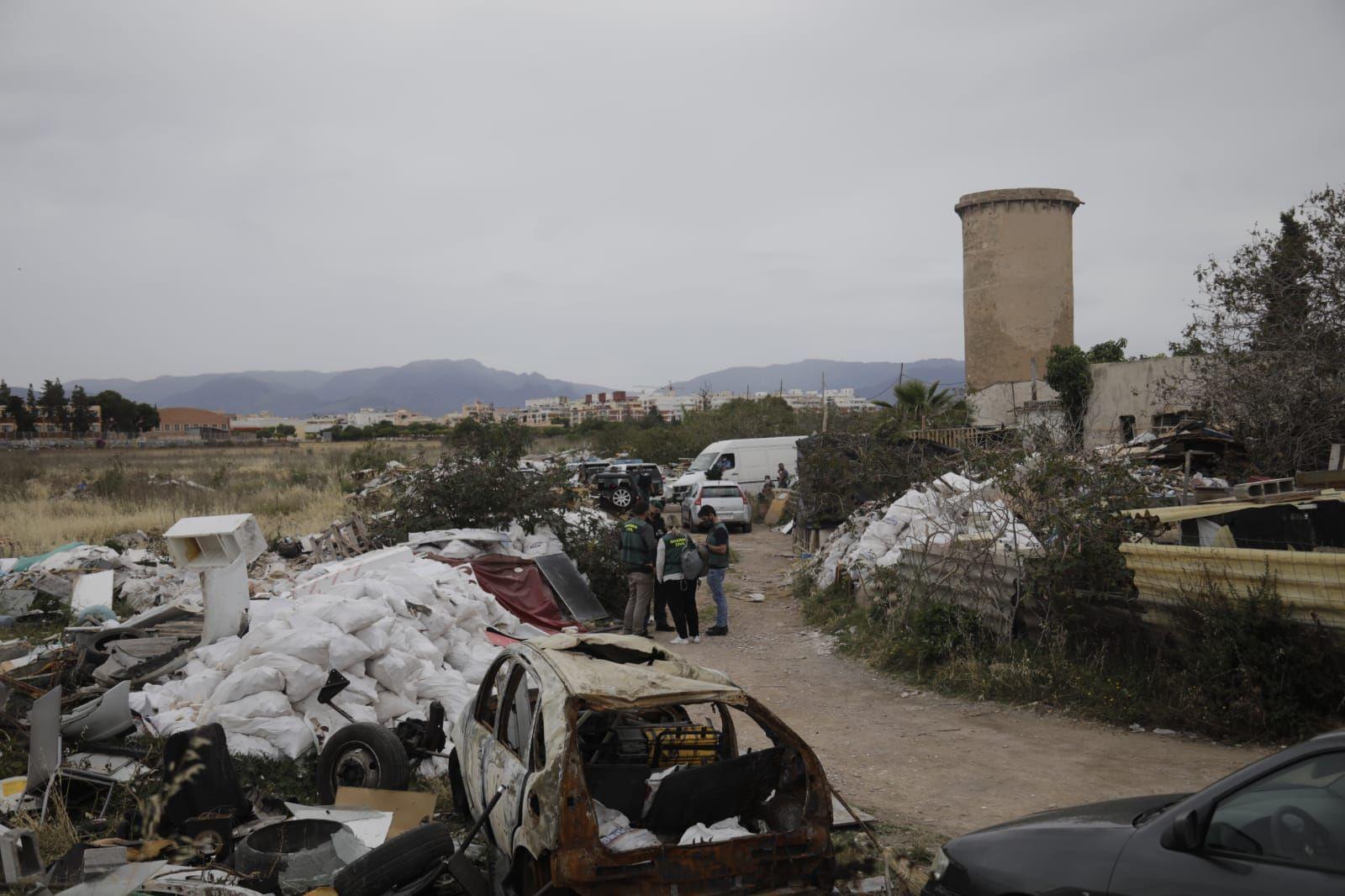 Un clan controlaba el vertedero ilegal junto al Estadi Balear