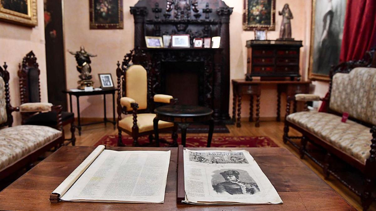 Fondos de la biblioteca de Pardo Bazán depositados en la RAG, en A Coruña.