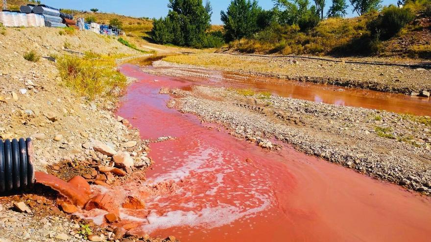 El Ayuntamiento de Morata denuncia un vertido contaminante de la tuneladora de Mularroya