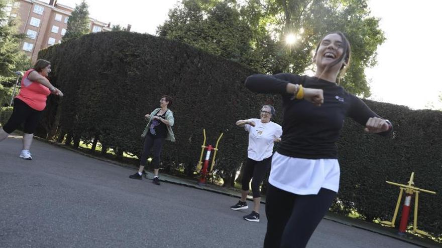 Avilés promueve la gimnasia al aire libre para luchar contra el sedentarismo