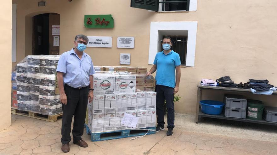 Emaya entrega 400 kilos de productos de primera necesidad