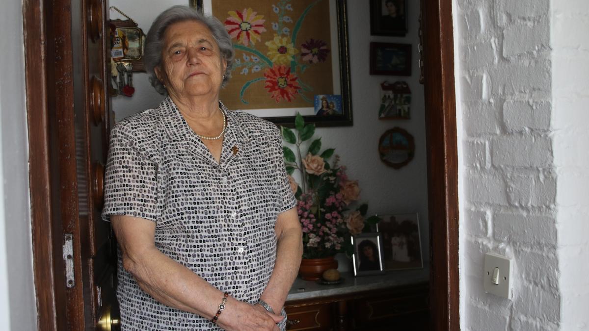Francisca Castro, en su casa del Sector Sur.