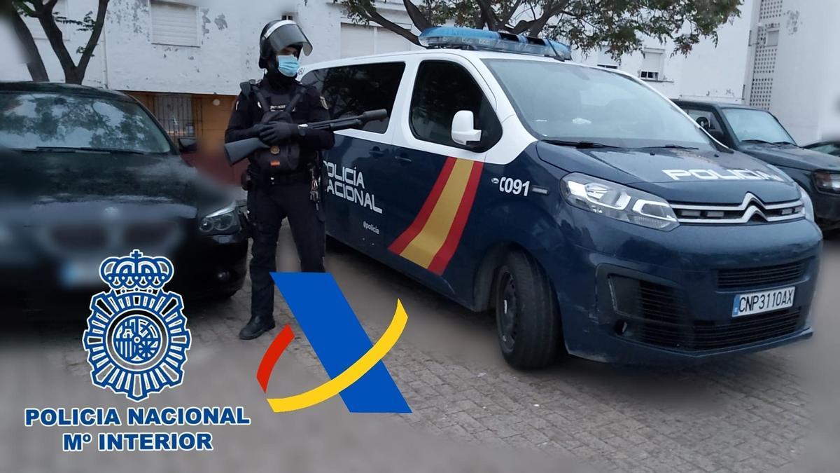 Operación antidroga en Cádiz.