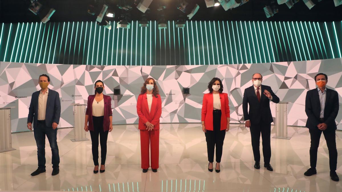Los candidatos a la presidencia de Madrid.