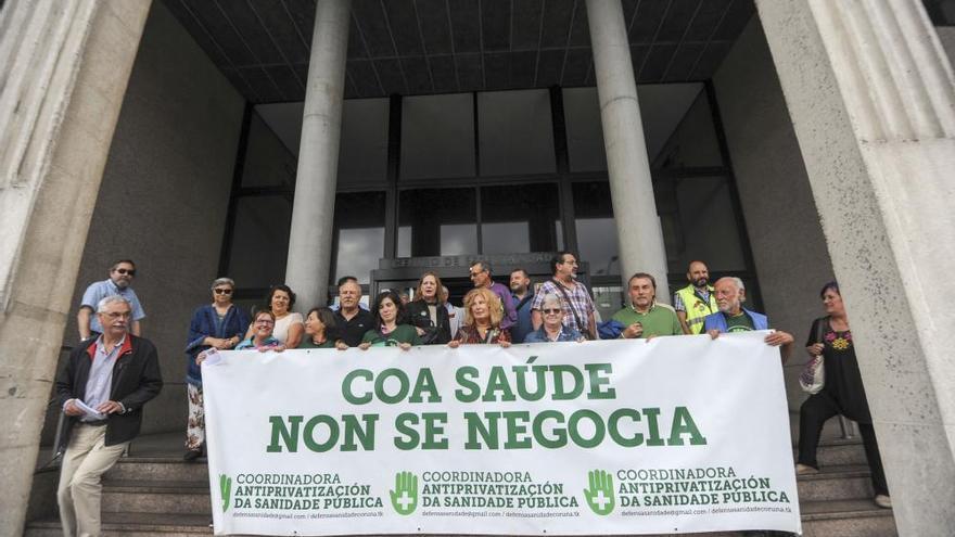 Protesta en A Coruña contra la Lei da Saúde