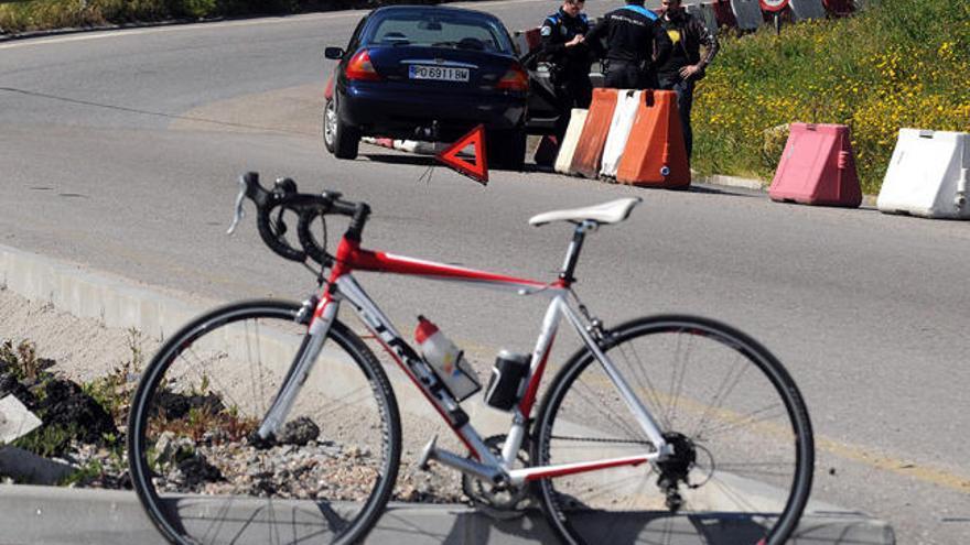 Casi un centenar de ciclistas resultaron  heridos en las carreteras gallegas el año pasado