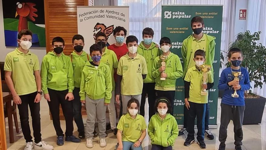 Brillante participación del Club d'Escacs Enric Valor en el Campeonato Autonómico de Ajedrez por edades