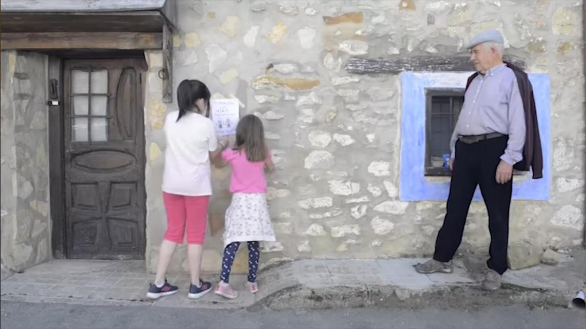Imagen del vídeo lanzado en redes sociales por el Ayuntamiento de Griegos.