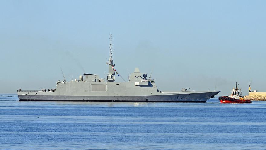 La fragata francesa 'Alsace' visita el puerto de Palma