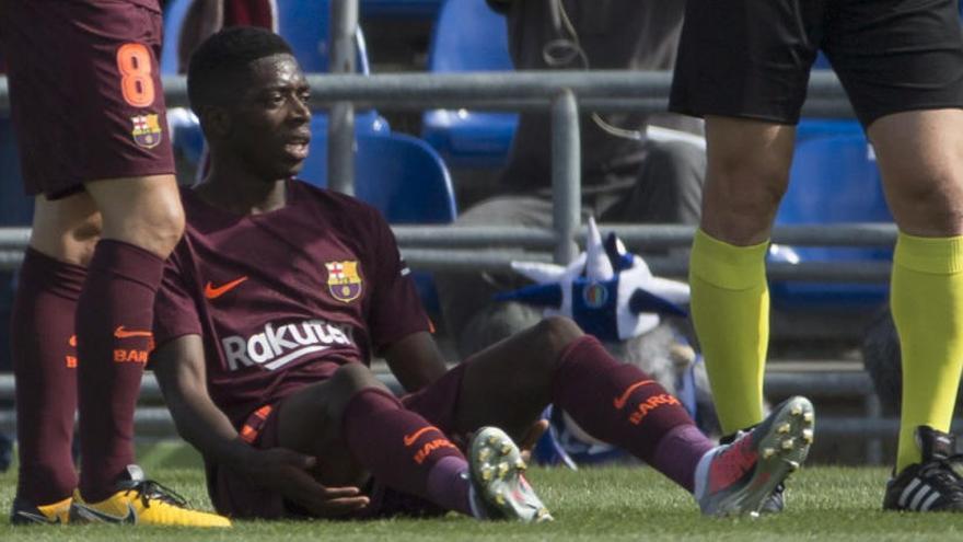 Dembélé estará casi cuatro meses de baja por lesión