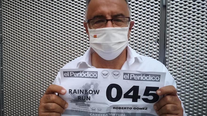 El periodista deportivo Roberto Gómez se suma a la Rainbow Run Extremadura
