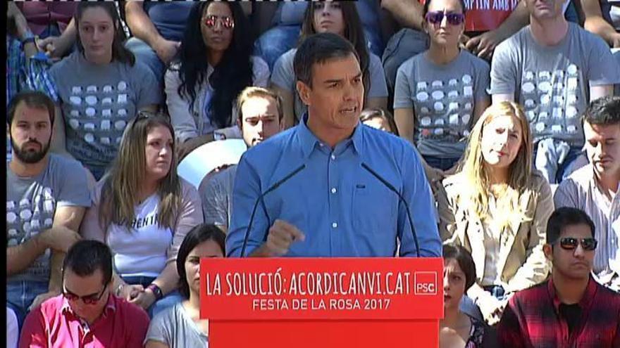 """Pedro Sánchez pide """"más autogobierno"""" para Cataluña"""