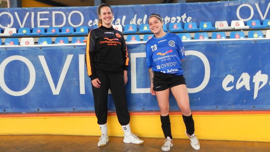 Los refuerzos del Balonmano Base Femenino para subir de categoría: llegan la portera Eva Martín y la central Cami Méndez