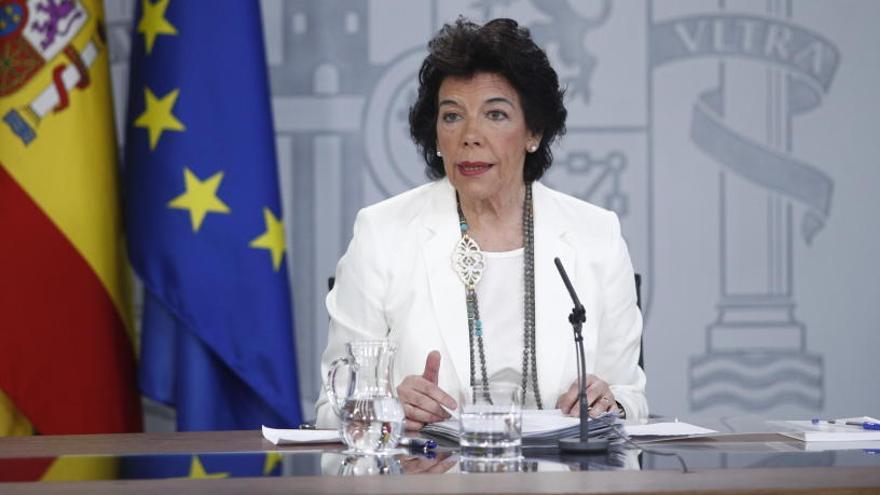Isabel Celaá, ministra Portavoz del Gobierno en funciones.