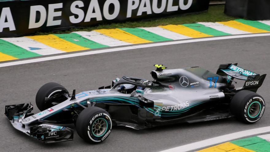 Bottas marca el mejor tiempo en los libres del GP de Brasil