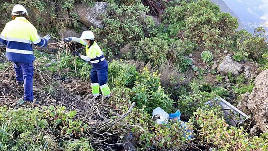 Comienza una campaña de limpieza del Cabildo en los espacios naturales