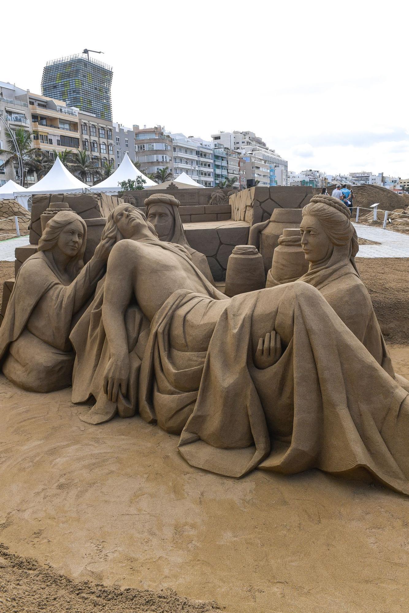 Belén de arena en la playa de Las Canteras