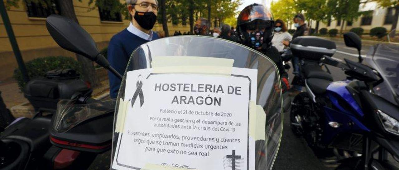 Manifestación de hostelería, ocio y turismo
